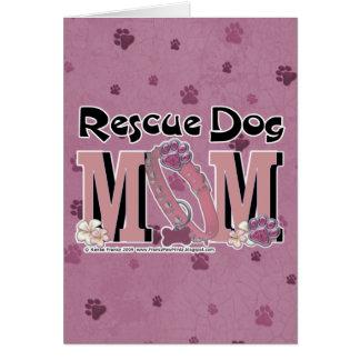 Cartão MAMÃ do cão do salvamento