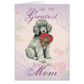 Cartão Mamã do coração da caniche