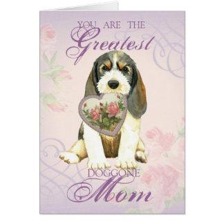 Cartão Mamã do coração de PBGV