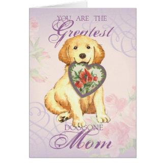 Cartão Mamã do coração do golden retriever