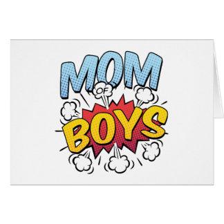 Cartão Mamã do estilo da banda desenhada do dia das mães