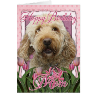 Cartão Mamã do feliz aniversario - Goldendoodle