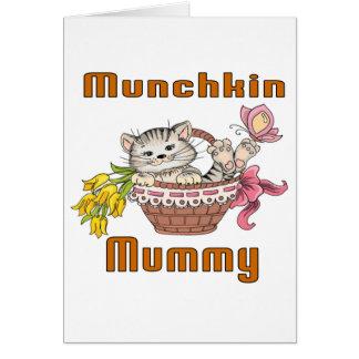 Cartão Mamã do gato de Munchkin