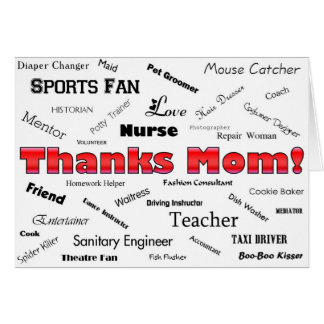 Cartão Mamã dos obrigados!