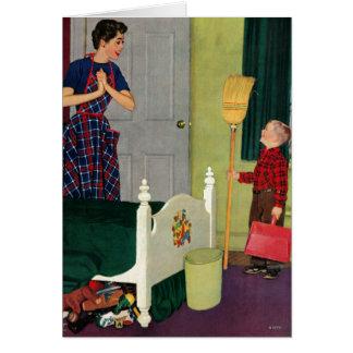 Cartão Mamã, eu limpei minha sala!