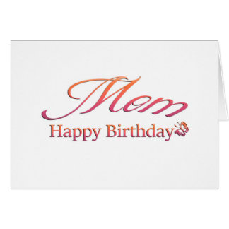 Cartão Mamã, feliz aniversario