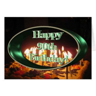 Cartão Mamã feliz do aniversário do 90