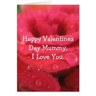 Cartão Mamã feliz do dia dos namorados, eu amo-o