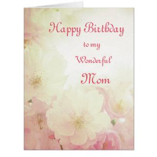 Cartão Mamã floral do feliz aniversario