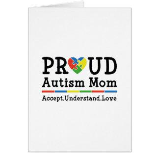 Cartão Mamã orgulhosa do autismo