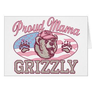 Cartão Mama orgulhoso novo Urso