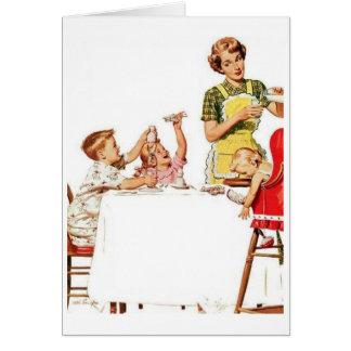 Cartão Mamã retro - apenas obtenha-me fora de aqui! ,