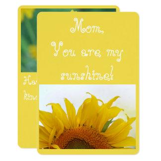 Cartão Mamã, você é minha luz do sol!