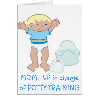 Cartão MAMÃ: VP do treinamento do Potty