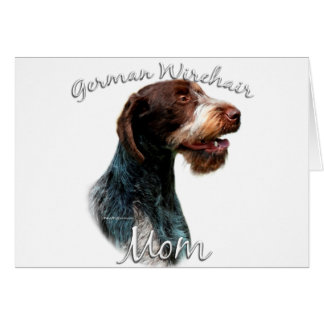 Cartão Mamã Wirehaired alemão 2 do ponteiro