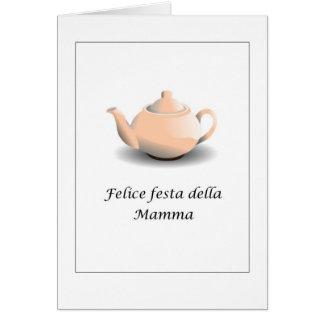 Cartão Mamães do della do festa de Felice do italiano -