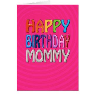 Cartão Mamães do feliz aniversario - cumprimento colorido