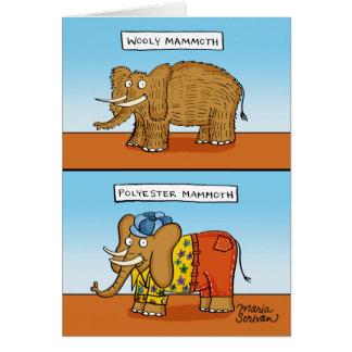 Cartão Mammoth do poliéster