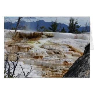 Cartão Mammoth Hot Springs