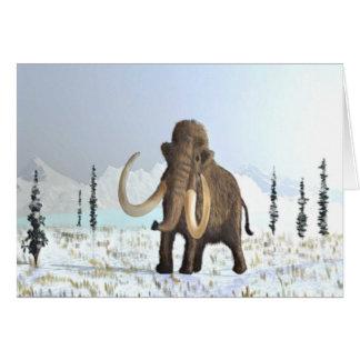 Cartão Mammoth Woolly