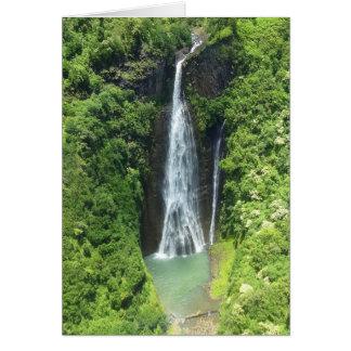 Cartão Manawaiopuna cai Kauai Havaí