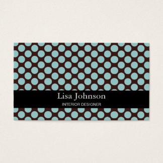 Cartão manchado do designer de interiores das