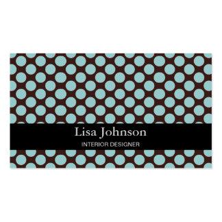 Cartão manchado do designer de interiores das cartão de visita