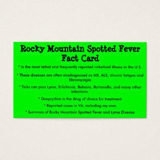 Cartão manchado do fato da febre da montanha