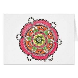 Cartão Mandala alegre Notecard do ruído