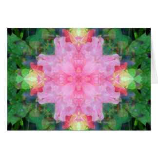 Cartão Mandala cor-de-rosa