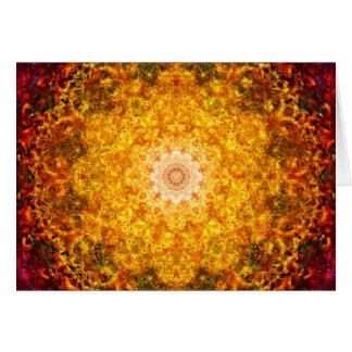Cartão Mandala da abundância