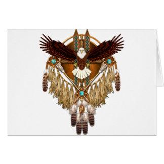Cartão Mandala da águia americana - revisada