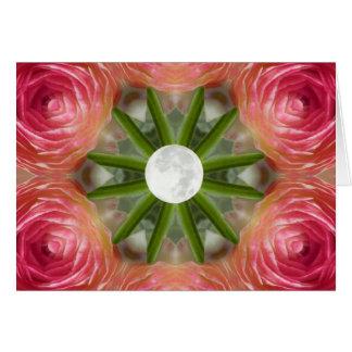 Cartão Mandala da flor da Lua cheia