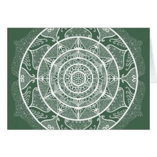 Cartão Mandala da floresta