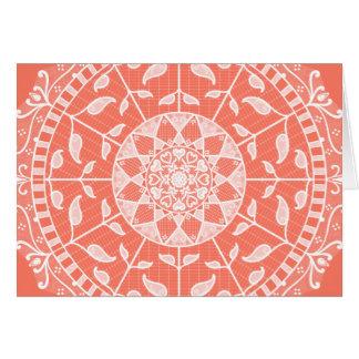 Cartão Mandala da papaia