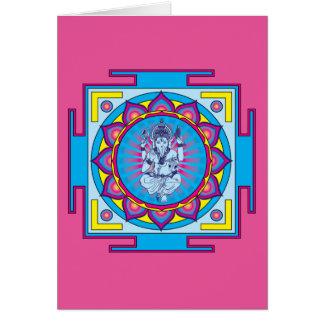 Cartão Mandala de Ganesha