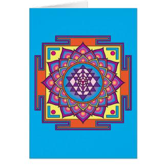 Cartão Mandala de Sri Yantra