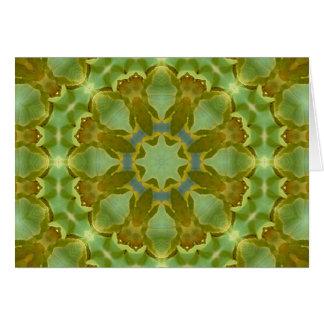 Cartão Mandala do caleidoscópio da folha da