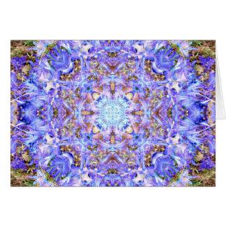 Cartão Mandala do jacinto
