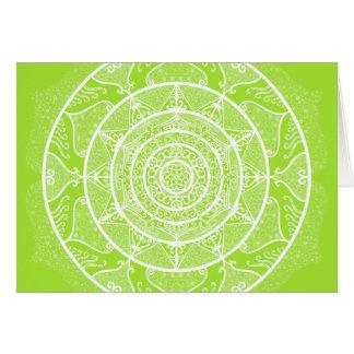 Cartão Mandala do limão