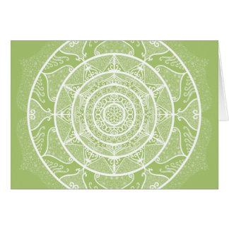 Cartão Mandala do líquene
