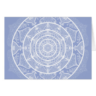 Cartão Mandala do mirtilo