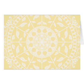 Cartão Mandala do pergaminho