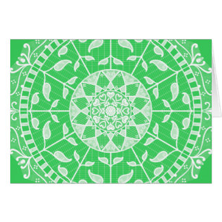 Cartão Mandala do primavera
