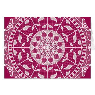 Cartão Mandala do vinho