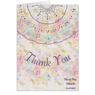 Cartão Mandala lunática dos doddles da coleção do