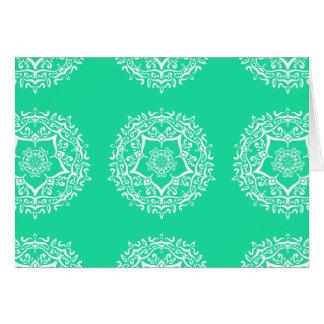 Cartão Mandala Minty