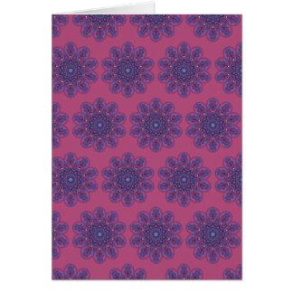 Cartão Mandala ornamentado de Boho