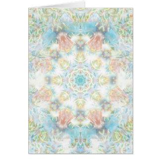 Cartão Mandala Pastel da flor