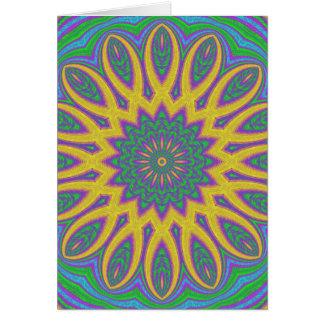 Cartão Mandala vibrante